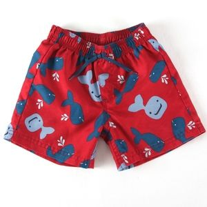4cfecf7ed7 Gymboree Swim - Gymboree Boys 2T Red & Blue Whale Swim Trunks
